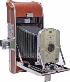 The 1947 Polaroid Land Camera. Invented by Edwin Land. Pictures develop inside the camera in just 60 seconds. The price was between $72-$73. You could even pay in small increments of $1.50 a week.