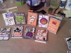 halloween cards in bulk- 2 min or less to make each one from scraps.
