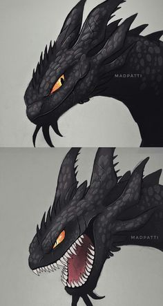 It looks like a nightfury - Drachen - Fantasy Dragon, Dragon Art, Fantasy Art, How To Train Dragon, How To Train Your, Fantasy Creatures, Mythical Creatures, Composition Photo, Night Fury Dragon