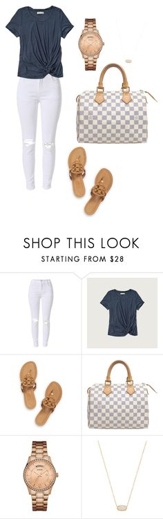 """""""everyday outfit"""" by fashionblogger2122 on Polyvore featuring Abercrombie & Fitch, Tory Burch, Louis Vuitton, GUESS and Kendra Scott"""