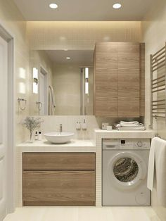 Bathroom Layout for Small Spaces . Bathroom Layout for Small Spaces . Very Neat Bathroom Layout with the Washing Machine Washing Laundry Room Design, Laundry In Bathroom, Laundry Rooms, Small Laundry, Laundry Area, Laundry Decor, Bathroom Toilets, Bathroom Layout, Bathroom Interior Design