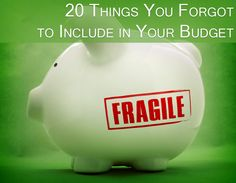 Don't forget to include these in your budget! :: Mint.com/blog