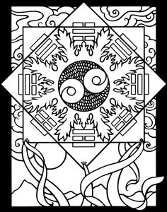 Chinese Designs Stained Glass Colouring Book