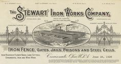 "Stewart Iron Works Company (Cincinatti, Ohio) 1926"" The Robert Biggert Collection of Architectural Vignettes on Commercial Stationery was donated to the Avery Architectural and Fine Arts Library by Robert Biggert in honor of Lisa Ann Riveaux. This unique collection of printed ephemera contains over 1,300 items with architectural imagery spanning the dates 1850 to 1920"
