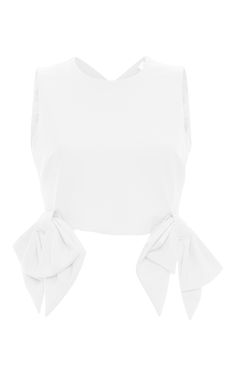 Sleeveless Bow Top by MSGM Now Available on Moda Operandi