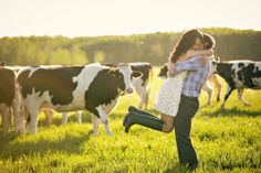 love the picture with the rustic farm feel and the cows! Photography by moorephotography.ca