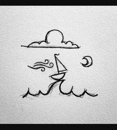 Drawing simple, simple cute drawings, pencil sketches simple, art d Small Drawings, Doodle Drawings, Cute Drawings, Drawing Sketches, Drawing Ideas, Pencil Drawings, Sketching, Hipster Drawings, Drawing Drawing