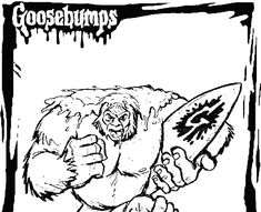 Goosebumps Coloring Page Coloring Home Abominable Snowman Coloring Pages Yeti Color In 2020 Snowman Coloring Pages Dinosaur Coloring Pages Halloween Coloring Pages