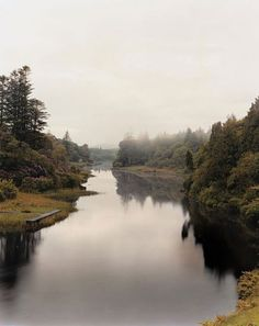 Morning mist lifts from the Salmon River at Ballynahinch Castle, in Recess. #travelcompanion