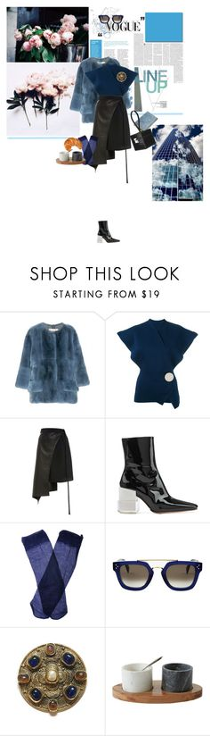 """""""daisies"""" by la-rosy ❤ liked on Polyvore featuring Marni, Jacquemus, Wendelborn, Maison Margiela, Trasparenze, CÉLINE and Chanel"""