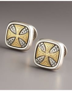 Konstantino Maltese Cross Cuff Links