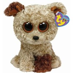 TY Beanie Boo Buddy 9 Plush - Dog Rootbeer by Ty Toys Stacking-Plugging Toys Changing Pads-Covers Changing Pads Shoes-Accessories Ty Beanie Boos, Large Beanie Boos, Beanie Boo Dogs, Ty Boos, Beanie Babies, Ty Animals, Ty Stuffed Animals, Stuffed Toys, Beanie Boo Birthdays