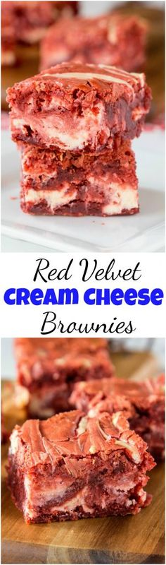 Red Velvet Brownies - Dinners, Dishes, and Desserts