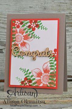 nice people STAMP!: Stampin' Up! Beautiful Bunch Card: #tgifc08