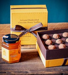 Sticky and Sweet Honey Truffles Gift Set. super cute hostess gift idea or stocking stuffer. edible gift, honey, small present, holidays, christmas. fun gift for a hostess, grandma, parents, mom, dad, stepdad, stepmom, brother, sister, cousin, foodie