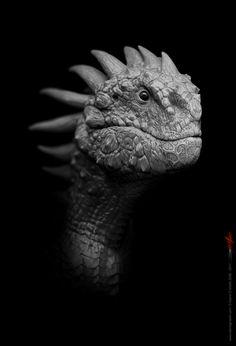 Dragões em 3D. Projeto de artista com 55 desenhos de dragões