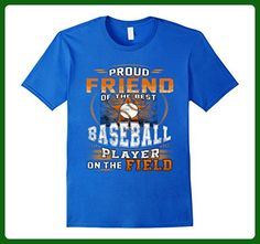 Mens Funny family shirt Proud FRIEND of the best baseball 2XL Royal Blue - Relatives and family shirts (*Amazon Partner-Link)