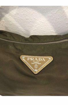 818a333d3719 Vintage PRADA Brown Gold Purse Nylon  55.0  prada  handbag  Pradahandbags