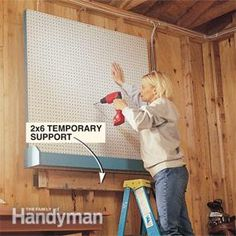 How To Build & Hang A Pegboard & Storage Bin - easy & inexpensive way to organize so many areas of your home.