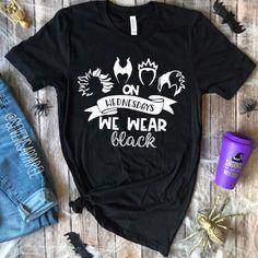 On Wednesdays We Wear Black Villian Halloween T-Shirt - Fashionable T Shirt - Ideas of Fashionable T Shirt - On Wednesdays We Wear Black Disney Villian Halloween T-Shirt Disney Villain Shirt, Disney Villian, Disney Outfits, Cute Outfits, Pajama Outfits, Disney Clothes, We Wear, How To Wear, Travel Shirts