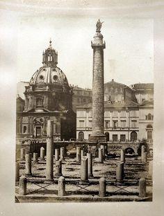 Forum Traiani with Trajan's column, Rome 1860-1865 Albumen print