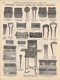 Harrods Catalogue Horn Tortoiseshell Comb Hair Slide Priced 1913 Vintage Advert | eBay