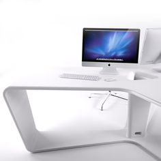 A triple office desk