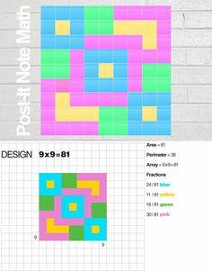 E is for Explore!: Post-It Math / Art