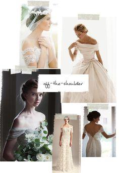 Our Favorite Wedding Dress Trends For 2015 | Verily #bridal #weddingdress #offtheshoulderdress