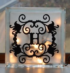 Glass Block with etching cream