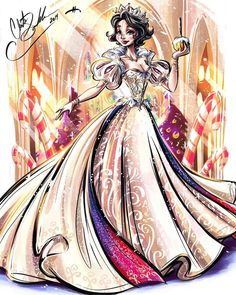 Chris S Well guys it's my final drawing. I don't have time to draw anymore before Christmas so I hope you enjoy this one. I think she's my fav of al. Disney Princess Fashion, Disney Princess Snow White, Disney Princess Drawings, Disney Princess Art, Disney Drawings, Drawing Disney, Film Disney, Arte Disney, Disney Magic
