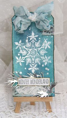 Tim Holtz stamps. Christmas tag