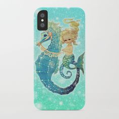 Glitter Mermaid Seahorse iPhone Case by frostbytegraphics Vintage Mermaid, Mermaids, Iphone Cases, Glitter, Iphone Case, Sirens, Mermaid, I Phone Cases, Sequins