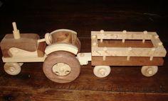 WoodWorking Handcrafted Farm Tractor w Wagon by SandJPaperandWood, $85.00 http://www.letit.info/archives/25.html