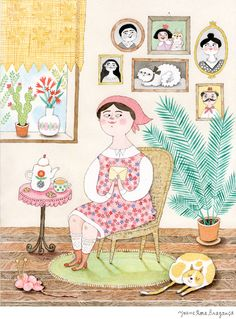 Na minha versão da Mariamélia há cartas misteriosas, um gato pachorrento e uma luz cálida que vem do quintal,anunciando a Primavera....
