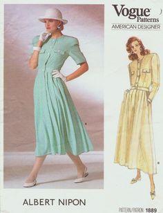 Vintage 80s Vogue American Designer Pattern 1889 by CloesCloset, $12.00