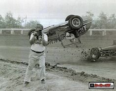 Vintage car crash