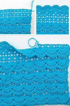 Oh my what a beautiful afghan stitch maybe doing the front post crochet in a lot of shell patterns is a way to go – Artofit Beau Crochet, Crochet Diy, Crochet Skirts, Love Crochet, Crochet Ideas, Crochet Tutorials, Crochet Flowers, Crochet Stitches Patterns, Crochet Designs