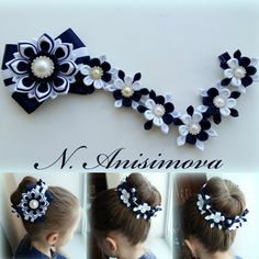 This Pin was discovered by Ека How to Make a Simple Fabric Kanzashi Flower Discover thousands of images about Photo Ribbon Art, Diy Ribbon, Fabric Ribbon, Ribbon Crafts, Ribbon Bows, Fabric Flowers, Satin Flowers, Diy Crafts, Hair Ribbons