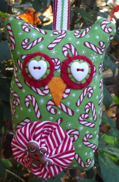 Christmas ornamentOwl Plush//Owl by PigeonHouseHandmade on Etsy, $8.75