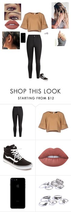 """Making My Way DownTown"" by sonialicetmartinez ❤ liked on Polyvore featuring The Fifth Label, Vans and Lime Crime"