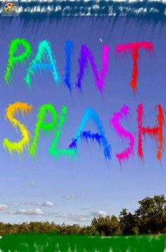 Paint Splash! Android - Måla med händerna, fingrarna över skärmen, skaka enheten för att sprida färgen - möjligheter för att alla att skapa.