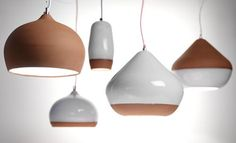 Hand-made in the UK our collection of terracotta pendant lights combine the beautiful warm hues of kiln-fired terracotta with a subtle white glaze resulting in a design that is at home both in traditional and modern settings. available at eporta.com