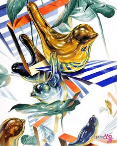 Glass Ball, Rooster, Perfume, Animals, Marker, Design, Animales, Animaux, Markers