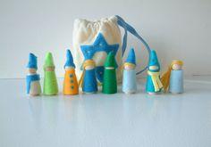 #Hanukkah Set Of 8 Dolls - Festival Of Light Gnomes #etsy $24