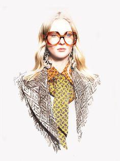 Illustration.Files: Gucci F/W 2016 Fashion Illustration by Juliane Hennes