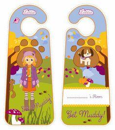 Autumn Leaves Lottie doll door hangers for kids #free #printables Download at www.lottie.com/create/