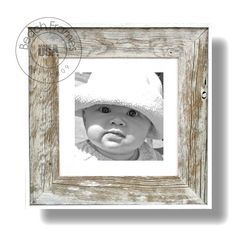 """10 x 10 white washed weathered reclaimed cypress wood with matting and plexiglass (22"""" x 22"""" outer frame dimensions). Hangs in both directions. Not made from dingy pallet wood. Made in the USA. Visit www.BeachFrames.com"""