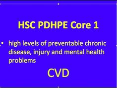 HSC PDHPE Core 1 - CVD - YouTube