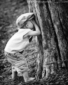 Black and White Photography - Hide -n- Seek Black N White, Black White Photos, Black And White Photography, Cute Kids, Cute Babies, Foto Baby, Jolie Photo, The Good Old Days, Beautiful Children